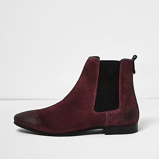 burgundy-chelsea-boots